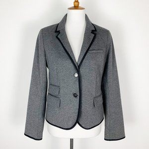 Gap The Academy Blazer 8 Stretch Charcoal Gray